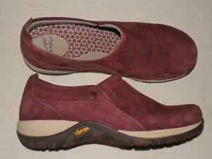 DANSKO Burgundy Suede Waterproof Slip-ons Comfort Shoes EU41 US 10.5 11 M - EUC