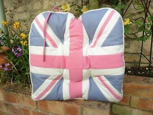 Union Jack Cotton Seat Pad - ideal for patio chairs or kitchens