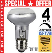 More details for 4pcs r63 e27/es dimmable basking spot reptile heat lamp vivarium light bulb