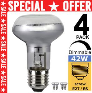 4Pcs R63 E27/ES Dimmable Basking Spot Reptile Heat Lamp Vivarium Light Bulb