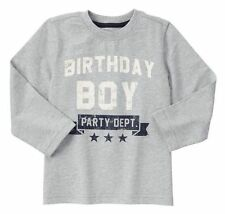 18-24 Months, Gymboree MIX 'N' MATCH, Birthday Boy Long Sleeve Tee, NWT
