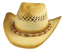 MG Outback Tea Stained Straw Cowboy Hat #8177