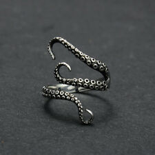 Octopus Steampunk Stainless Steel  Finger Open Ring  Adjustable Size Retro