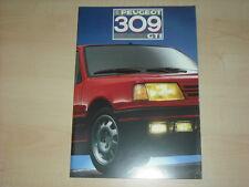 60491) Peugeot 309 GTI Prospekt 1987