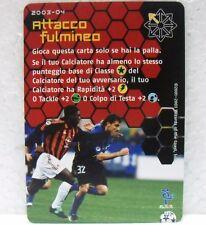 FOOTBALL CHAMPIONS Italiano 2003-04 - ATTACCO FULMINEO - carta azione A14 VIERI