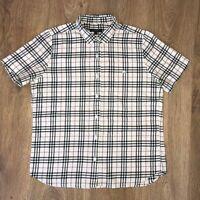 Burberry ladies womens vintage nova check button front t shirt size 40