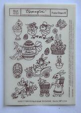 DDR Kult Typofix Haftdruckabreibfolie Saalfeld Rubbelbilder 4152 Frohe Ostern 3