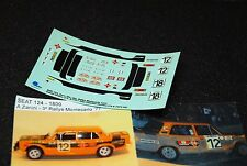 DECAL CALCA 1/43 SEAT 124 OFICIAL S. CAÑELLAS RALLY MONTE CARLO 1977