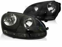 Kit Coppia di Fari Anteriori per VW Golf 5 V dal 2003 al 2009 Fondo Nero IT LPVW