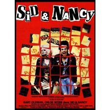 Affiche Pliée 40x60cm SID & NANCY 1986 Gary Oldman Chloe Webb Sex Pistols NEUVE#