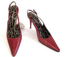 DOLCE GABBANA - Escarpins talons fins 10 tout cuir rouge 38 EXCELLENT ETAT