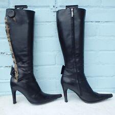 Baldinini Leather Boots Size Uk 5 Eur 38 Womens Ladies Sexy Black Italian Boots