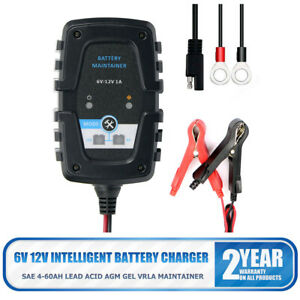 6V 12V 1A Automatic Smart Battery Charger Maintainer for Car Motorcycle Durable
