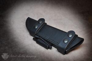 Spyderco Knives 'The Midnight Ride' Custom Leather Bushcraft Sheath
