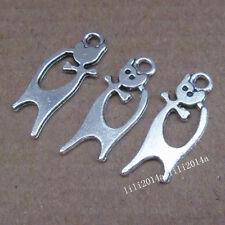 20pc Tibetan Silver Cat Animal Pendant Charms Beads Accessories  PL704