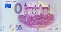 BILLET 0 EURO BRATISLAVA 1 SLOVAQUIE 2019-1  NUMERO DIVERS