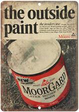 "Benjamin Moore Paint VoorGard Latex Ad 10"" X 7"" Reproduction Metal Sign Z61"