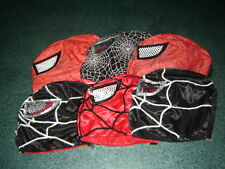 LOT 6 KIDS SPIDER-MAN RED and BLACK WRESTLING MASK niños HOMBRE ARAÑA MEXICO