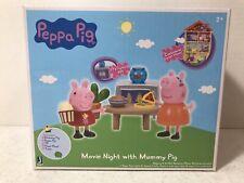 RARE Peppa Pig Movie Night With Mummy Pig Playset