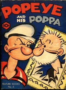 Feature Book #5-Popeye and His Poppa-1937-Comic Book