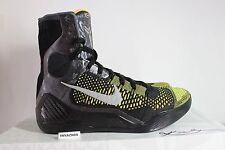 NIKE AIR ZOOM KOBE 9 IX ELITE INSPIRATION BLACK SILVER ANTHRACITE SIZE 9