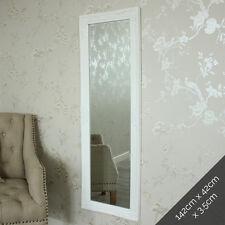Tall ornate white miroir shabby français chic chambre salon mur plancher maison