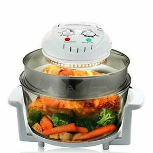 Megachef 13-quart Multipurpose Halogen Oven Air Fryer - White - GallyHo