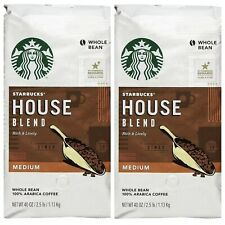 TWO Starbucks House Blend Whole Bean Coffee (40 oz EACH ) Fresh