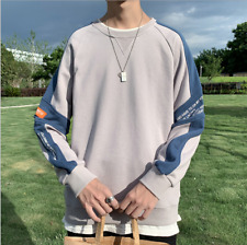 New Men's clothing Pullover loose T-shirt Casual sports round collar Sweatshirts