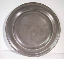 GOOD ANTIQUE PEWTER CHARGER plate 35cm 13.75 inches  TOUCH MARKS