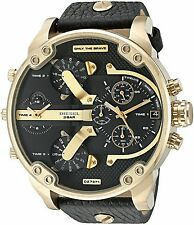 Diesel DZ7371 Mr Daddy 2.0 Black Leather Strap Chrono Watch 57mm