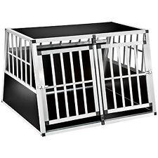 XXL Cage box caisse trapézoïdal de transport voyage pour chien mobile aluminium