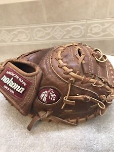 "Nokona WB-3200  33"" Walnut Baseball Softball Catchers Mitt Right Throw"