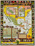 Spanish Main South America Whimsical Pictorial Map Wall Art Poster Print Decor
