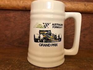 Rare Vintage 1985 Adelaide Australian Formula One Grand Prix Ceramic Beer Stein