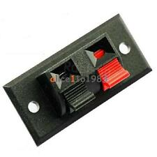 2 Way Push Release Connector Plate Amplifier Speaker Terminal Strip Block