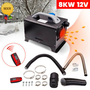 8KW 12V Diesel Air Heater LCD Thermostat Remote Control For Car Truck Motorhome