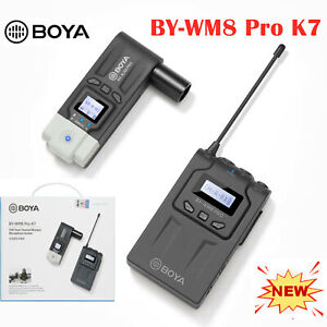BOYA BY-WM8 Pro K7 UHF Wireless Condenser Microphone For Camera DSLR Smartphone