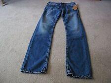 Men's True Religon Medium Wash Geno Relaxed Slim Fit Jeans - Size 30/34