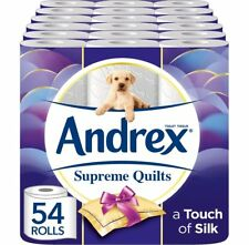 Andrex Supreme Quilts Toilet Roll Tissue Paper Bathroom 54 Rolls Free P&P NEW