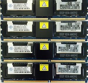 Memory Ram 4 Apple Mac Pro 2006 2008 1.1 3.1 DDR2 667 PC2-5300F FB 1,2x Lot UK