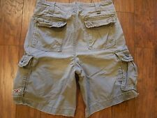 HOLLISTER GRAY CARGO SHORTS MENS SIZE 32
