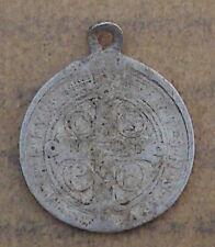 Medalla vieja-amuleto pilgermedaille-benedictusschild-San Benedicto (aa38)