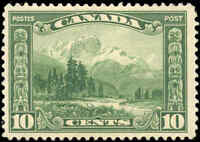 Mint H Canada 10c 1928 F-VF Scott #155 KGV Scroll Issue Stamp