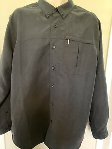 Men's The North Face Tekware Performance Button Front Shirt Black UPF 50 NWT's