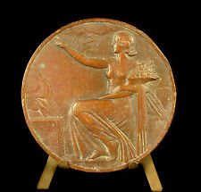 Médaille L'Urbaine assurance contre l'incendie Bazor allégorie protectrice medal