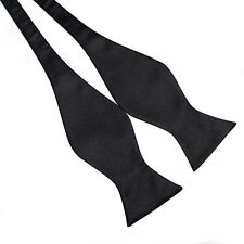 10Color Solid Handmade Men's Silk Stain Bowtie Tuexdo Self Tie Bow Tie Necktie