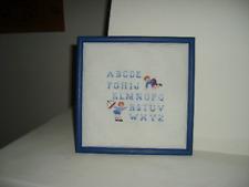 """Décoration chambre enfant garçon """" pour apprendre l'alphabet """""""