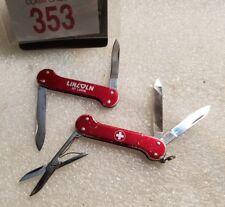 2 ultra rare Dogbone Variations Victorinox Alox Duchess Knives