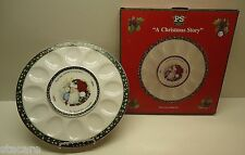 """""""A Christmas Story"""" Susan Winget Portmeirion Studio EGG HORS D'OEUVRE TRAY & BOX"""